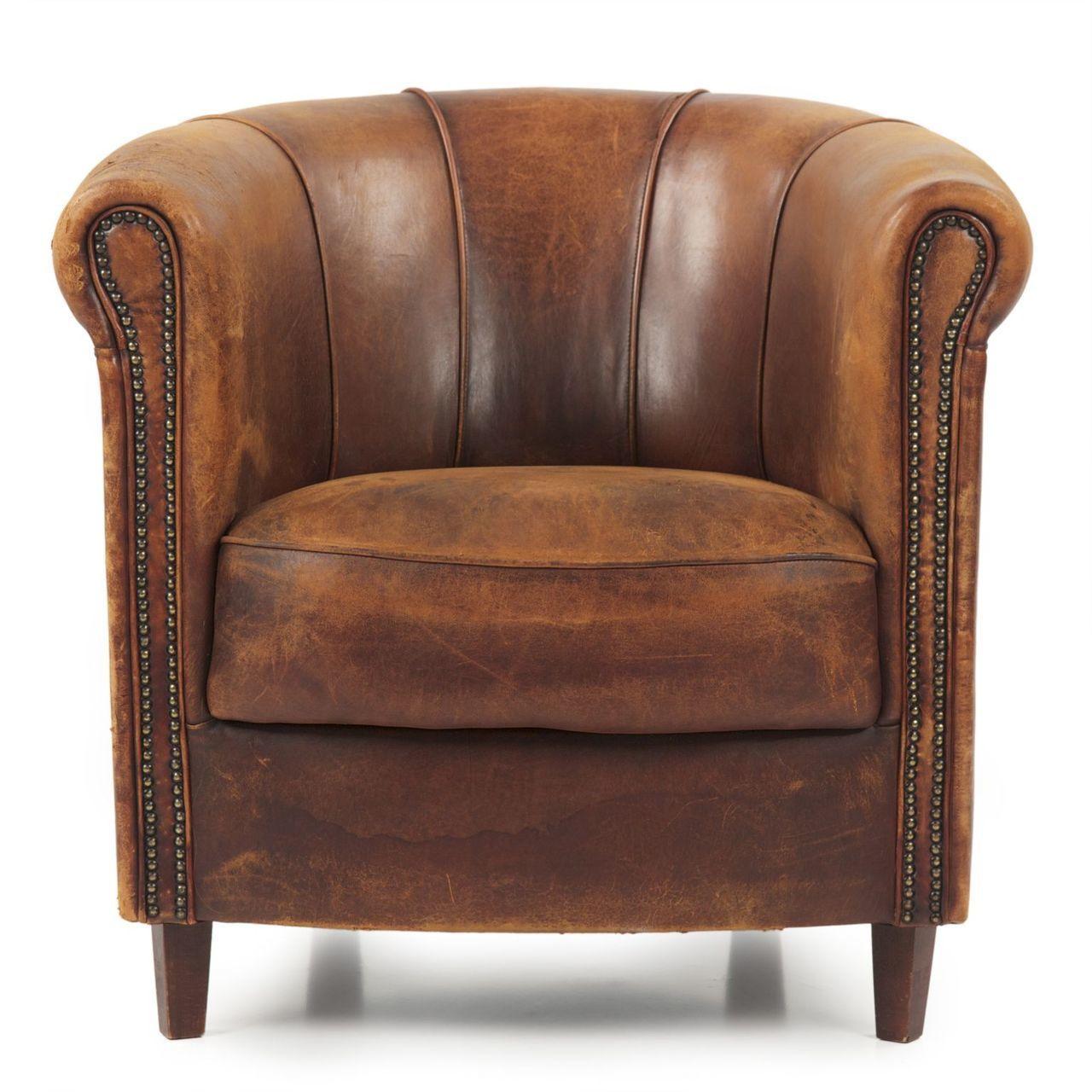 Art Deco Style Sheep Leather Club Chair By Joris Sheep