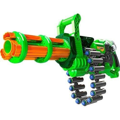 Kids Nerf Blaster Gun Toy Game Outdoors Darts Bullets Shooter Pistol Green  Grey