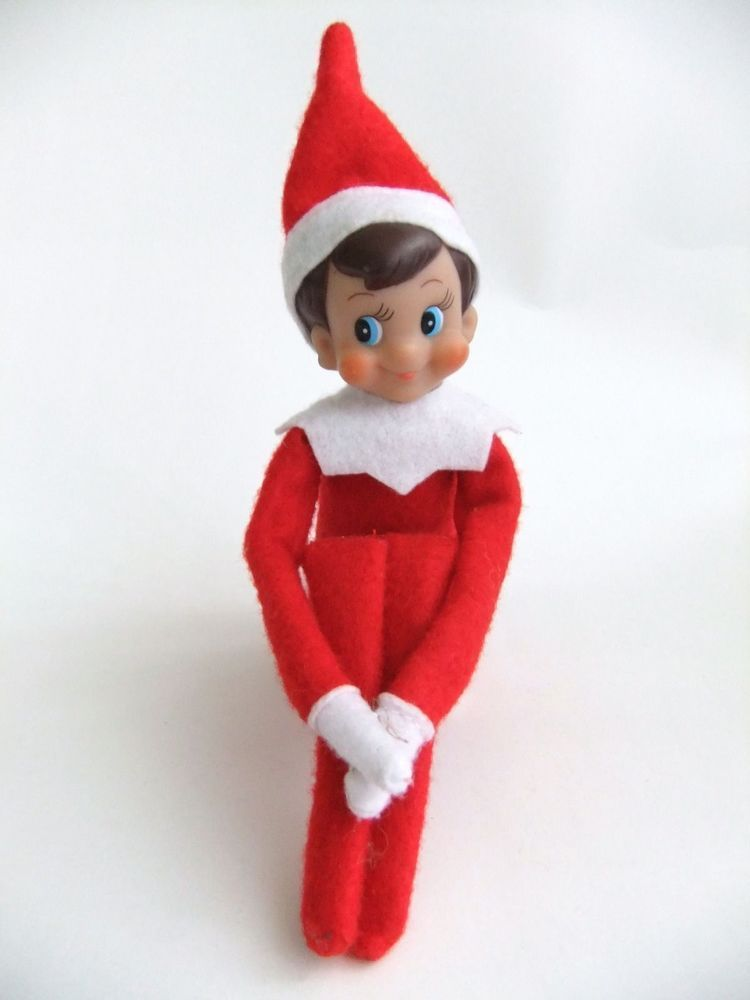 Pocket Sized Christmas Elf With Scarf On Shelf Doll Christmas