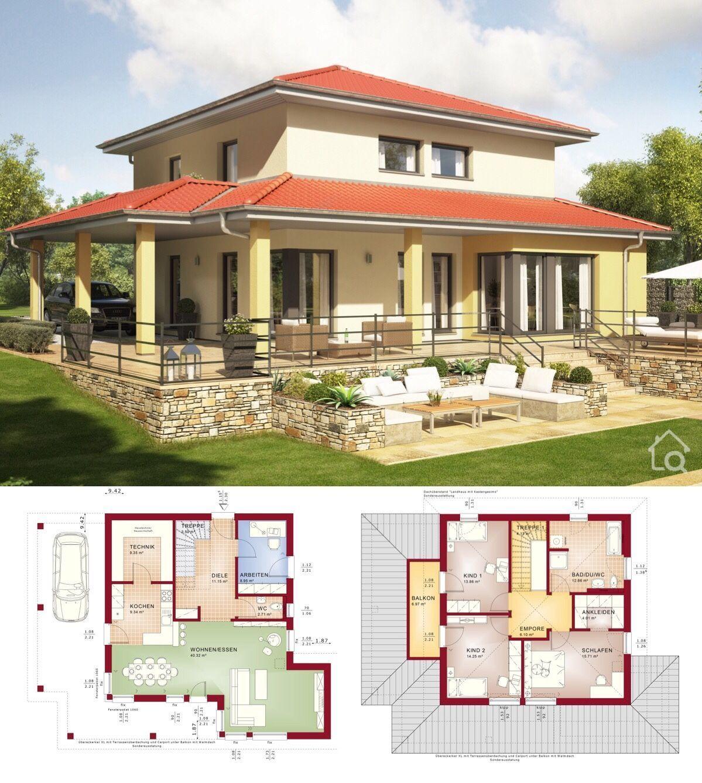 Haus Evolution 143 V8 Im Toskana Stil Bien Zenker In 2020 Toskana Haus Architektur Haus Grundriss