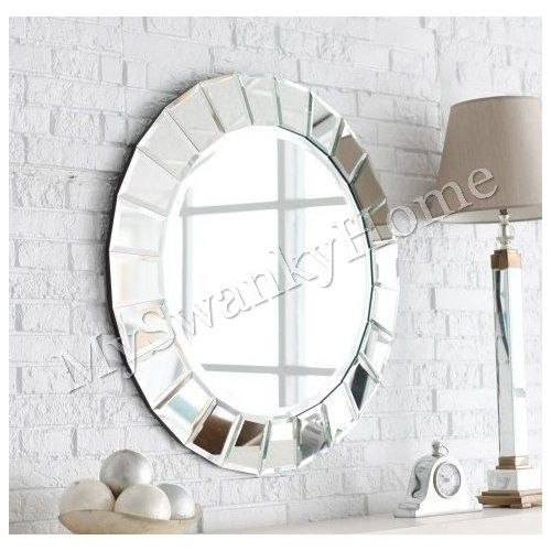 Amazon Framed Bathroom Mirrors amazon: extra large frameless venetian sunburst round wall
