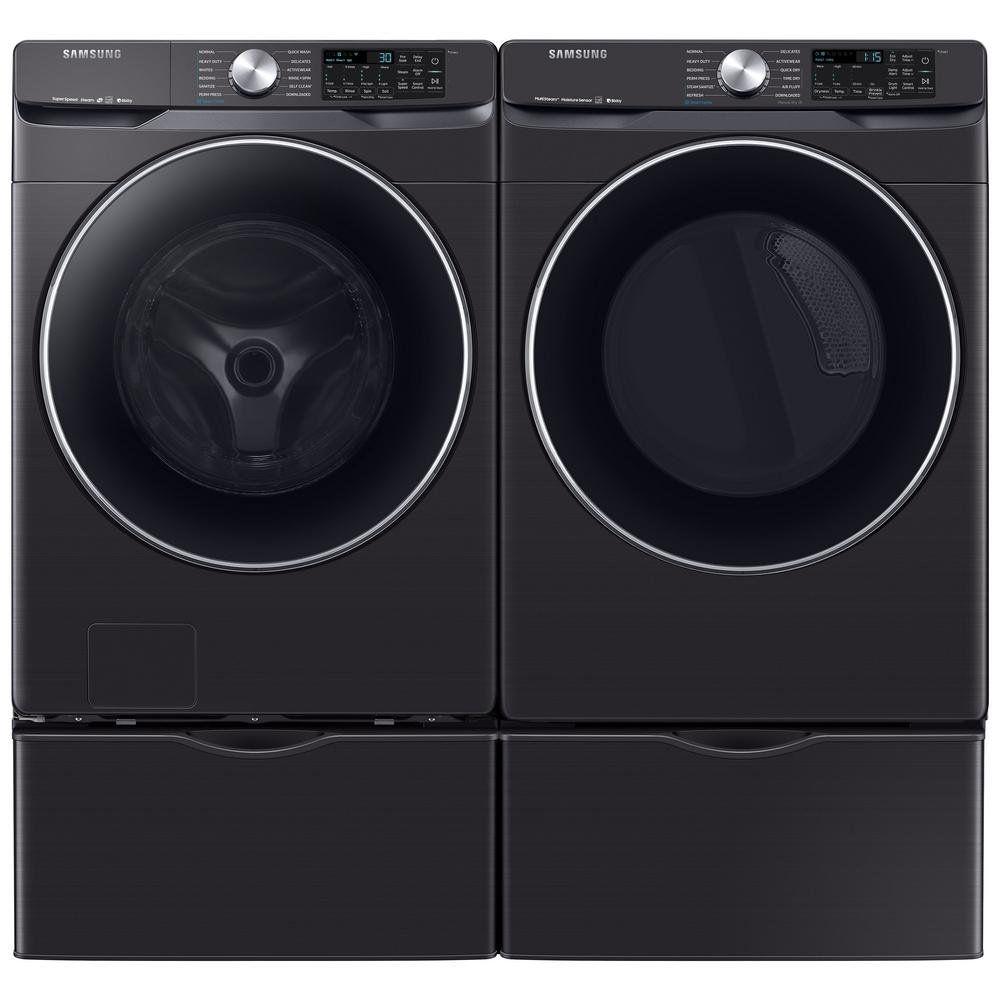 Samsung Super Speed Laundry Pair Black In 2020 Washer Dryer Set Best Washer Dryer Laundry Pair