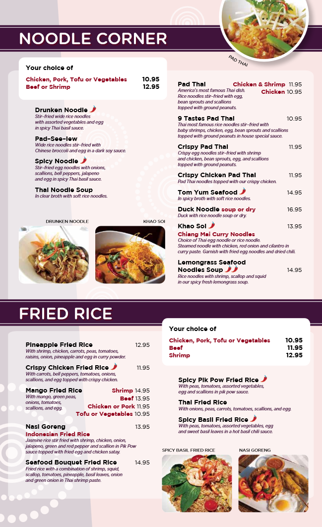 Nine Tastes Dinner Menu Order Online Www 9taste Com Thai Thaifood Food Orderonline Takeout Delivery Restau Authentic Thai Food Hot Spices Thai Recipes