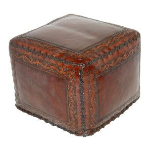 New Grenada Leather Ottoman