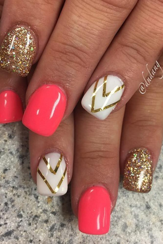 120 Special Summer Nail Designs For Exceptional Look Simple Gel Nails Nail Designs Gel Nail Art Designs