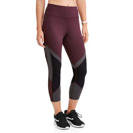 7fda8815cbfaff Avia Women's Active Colorblock Performance Capri Legging, Size: Large, Red