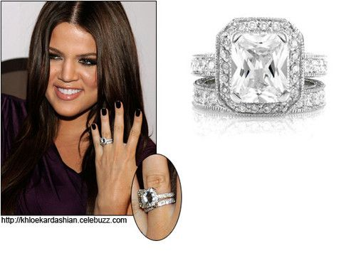 Khoe Inspired Weddingringset Ring Jewelry Cz Sterlingsilver Kardashian Engagement Ring Celebrity Engagement Rings Khloe Kardashian Engagement Ring