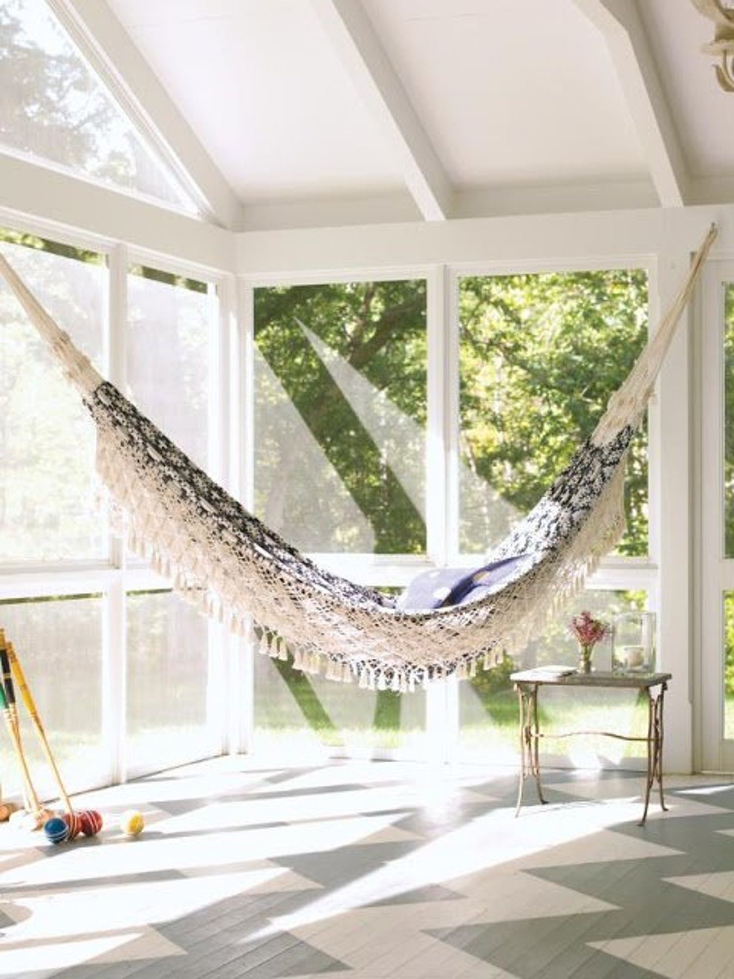 Would you could you a hammock in the house sunrooms and house