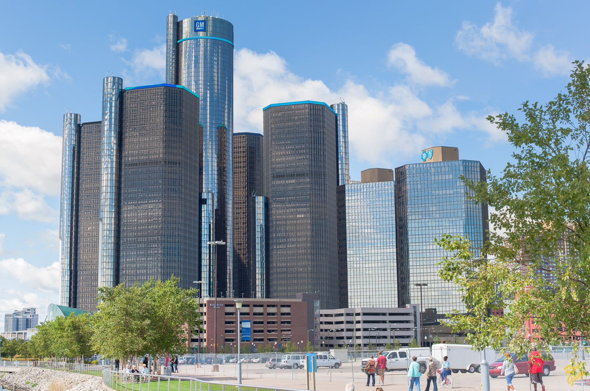 The Renaissance Center The Headquarters For General Motors As