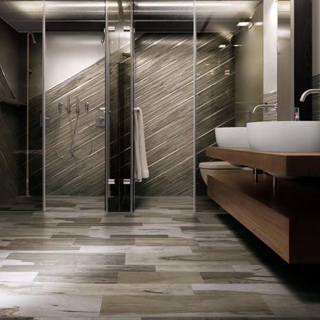 create a striking focal point in a bathcreating a diagonal