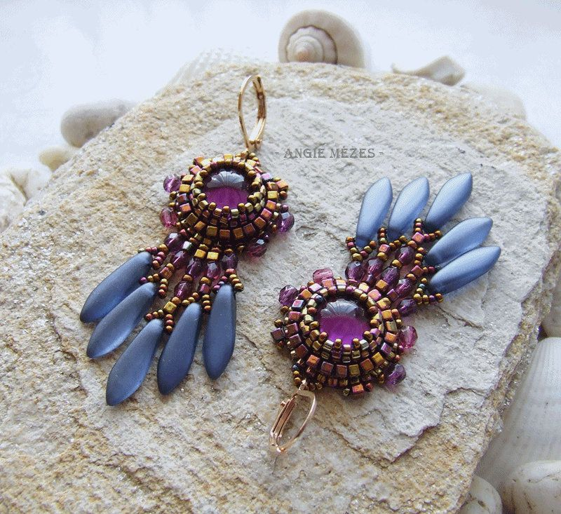 Beaded Earrings Diy Kit Bead Embroidery Earrings Tutorial