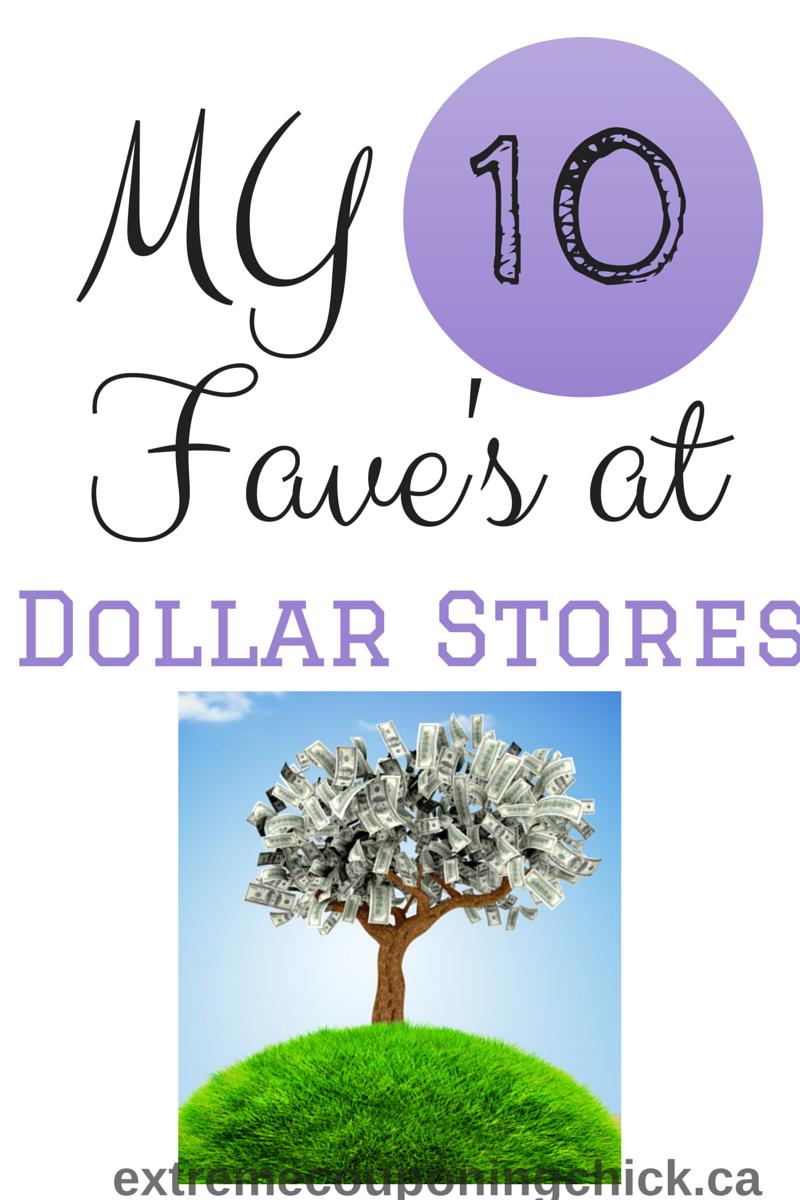 My 10 Favorites at Dollar Stores