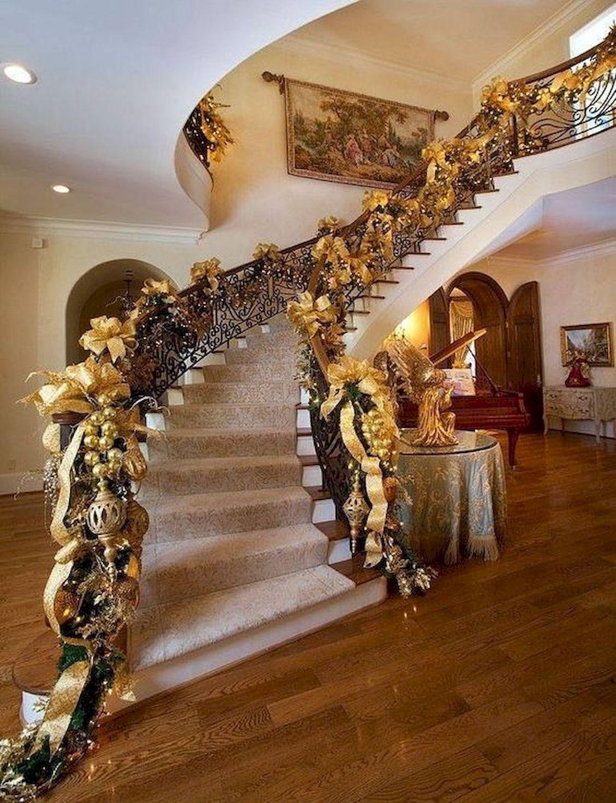 elegant christmas decorations ideas staircases pinterest