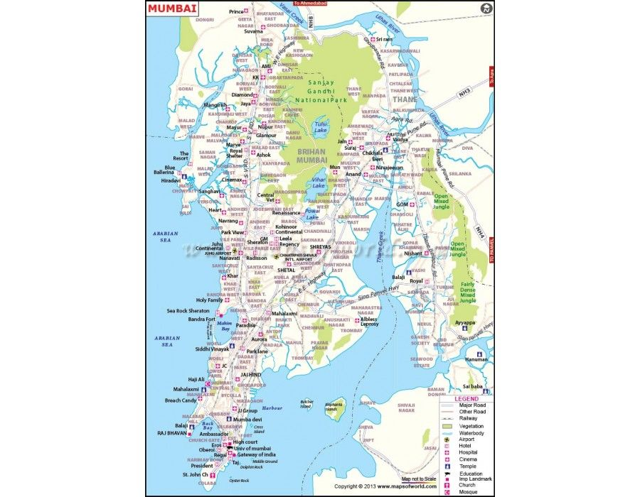 Mumbai Map in Digital Vector Format City Maps Pinterest Vector - fresh world map with all countries vector
