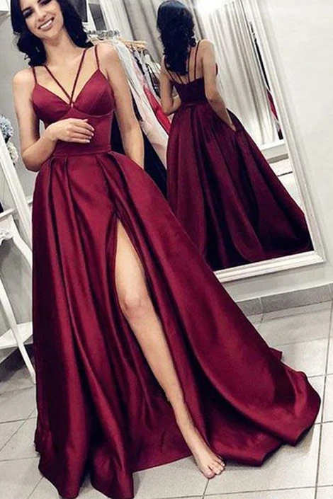 Prom Dress with Slit, Evening Dress ,Winter Formal Dress, Pageant Dance Dresses, Graduation School Party Gown, PC0264 -   18 dress Winter party ideas