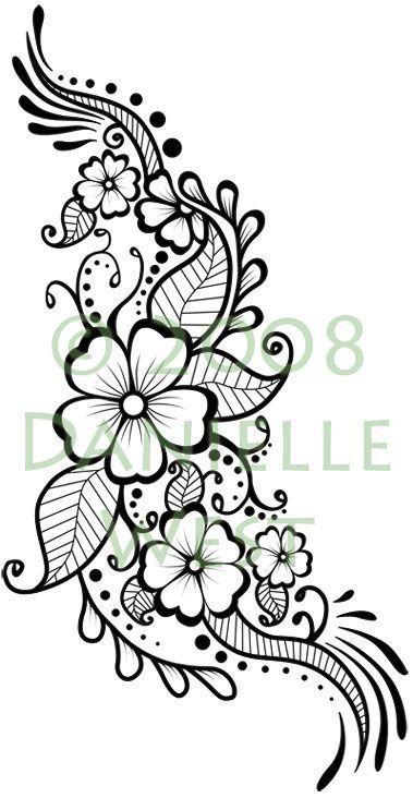 Henna flower | Henna designs | Pinterest | Henna vorlagen, Leinwand ...