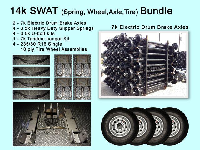 - TK 14K Capacity - Original Series 7000 lb Heavy Duty Tandem Axle TK Trailer Kit | 8x6.5 75//58 50
