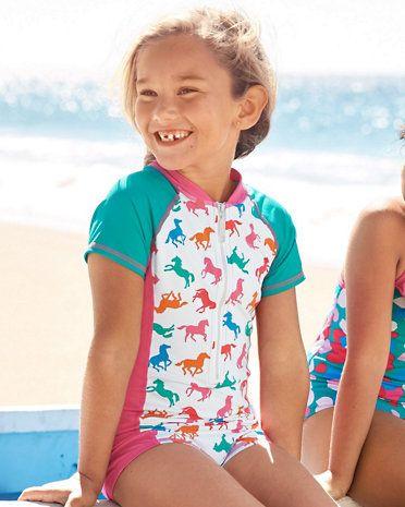63fce26db3952 Wave Rider One-Piece Rashguard Swimsuit - Girls | PARENTING | Rash ...