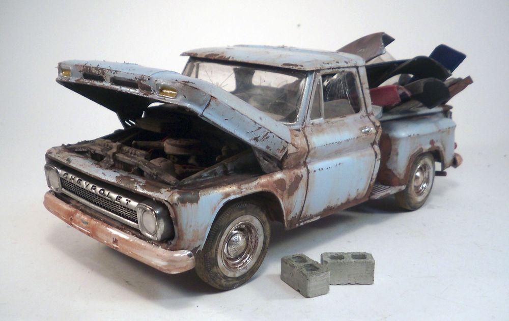 1965 Chevy Pickup Pro Built Weathered Barn Find Junkyard Custom 1 ...