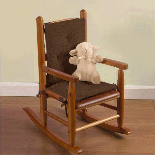 Baby Doll Bedding Heavenly Soft Child Rocking Chair Cushion Pad Set