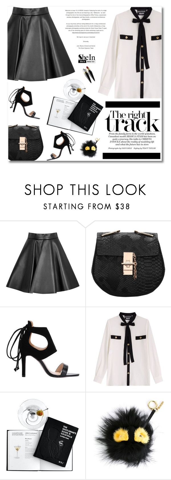 """SheIn"" by defivirda ❤ liked on Polyvore featuring MSGM, Boutique Moschino, Fendi, Christian Louboutin, women's clothing, women's fashion, women, female, woman and misses"