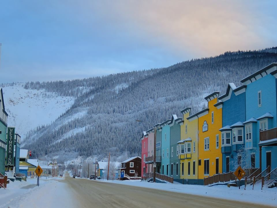 Ever Wonder What Dawson City Looks Like In Winter Like This Photo Dawson City Yukon Dawson City Yukon Winter Vacation Places To Go