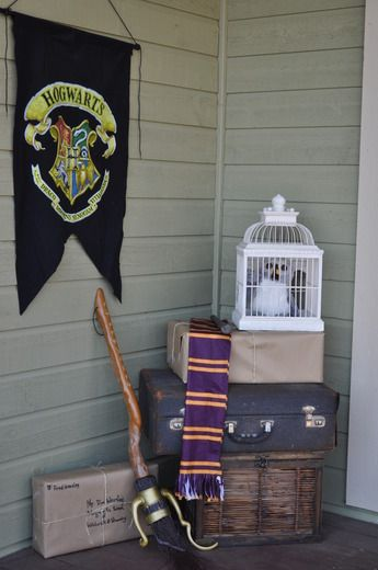 This said Harry Potter party but maybe that's just how some people decorate their porch...I mean don't judge..