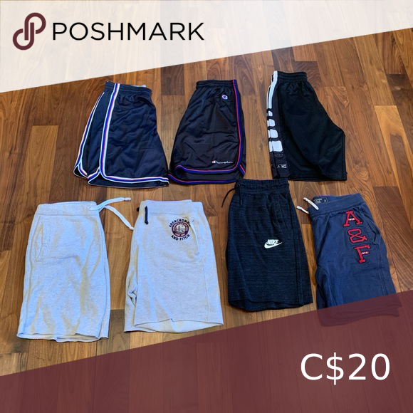 insertar ligado Joven  7 shorts from different brands Champion, Nike, Abercrombie and Fitch shorts  Abercrombie & Fitch Shorts Athletic in 2020   Abercrombie and fitch shorts,  Shorts, Brand