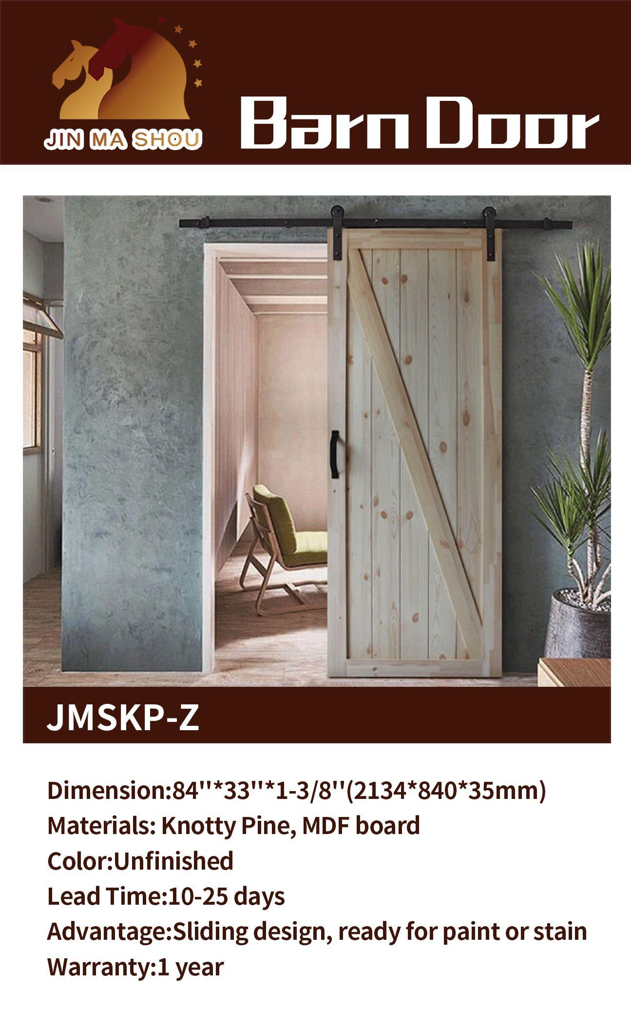 Natural Veneered Wooden Flush Door Design Mdf Living Room: Unfinished Knotty Pine Sliding Barn Door, Keep Natural In