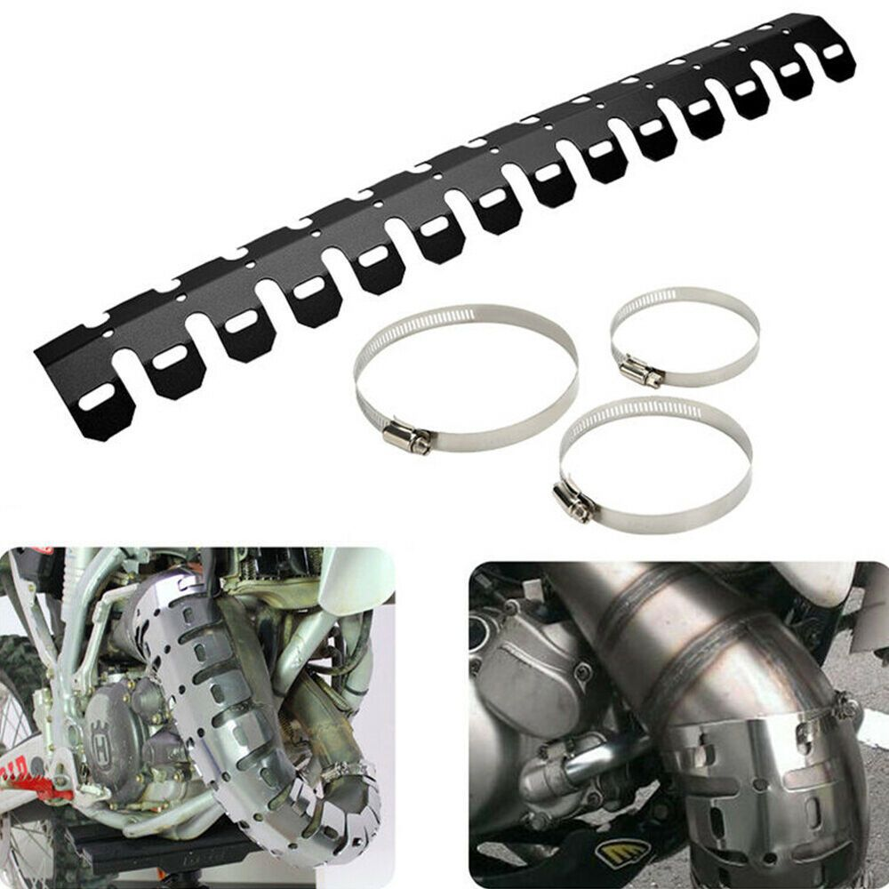 Universal Motorcycle Exhaust Muffler Pipes Leg Protector Heat Shield Cover Guard