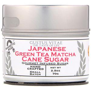 Gustus Vitae 사탕수수 설탕 일본 녹차 말차 2 5 Oz 70g Iherb 말차 녹차 설탕
