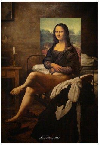 LHOOQ painted remix  Mona Lisa  Social art Figurative