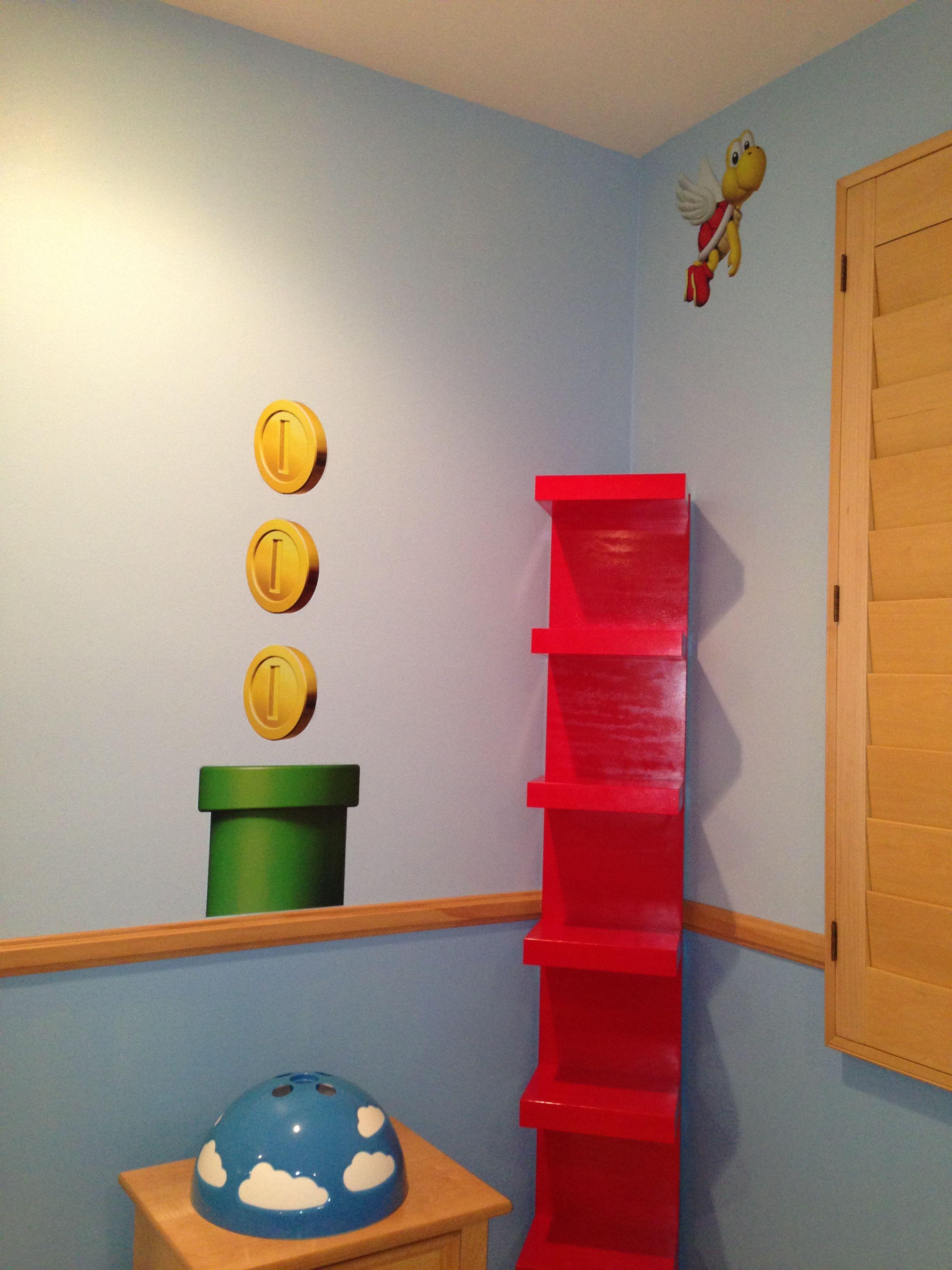 Super Mario bros room decor Aiden bedroom ideas Pinterest