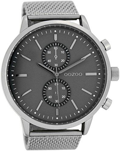 OOZOO C7464 Uhr Herrenuhr Metall 20m Analog grau - http://uhr.haus/oozoo/oozoo-herrenuhr-mit-metallband-48-mm-silber-grau