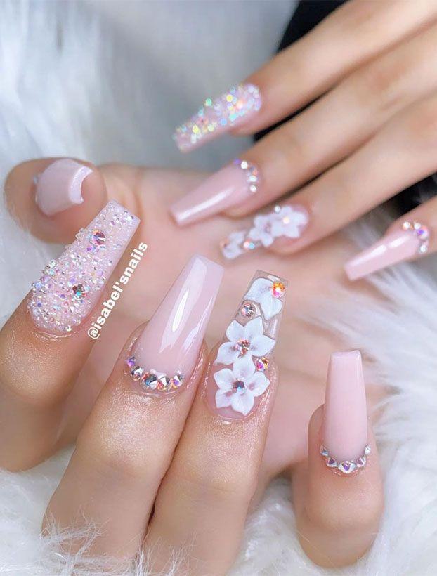 41 best wedding nail ideas for elegant brides 41 b
