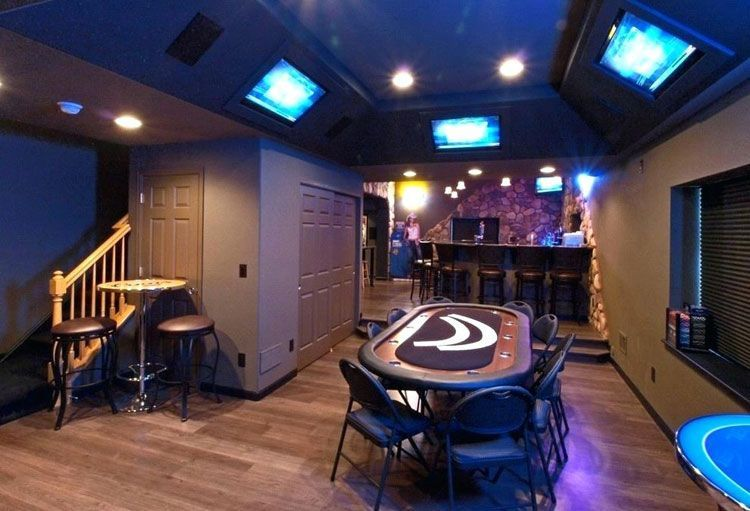 Cool Basement Man Cave With Multiple Tvs Best Man Cave Ideas Cool Classy And Modern Man Room Decor Designs Man Cave Design Best Man Caves Man Cave Home Bar