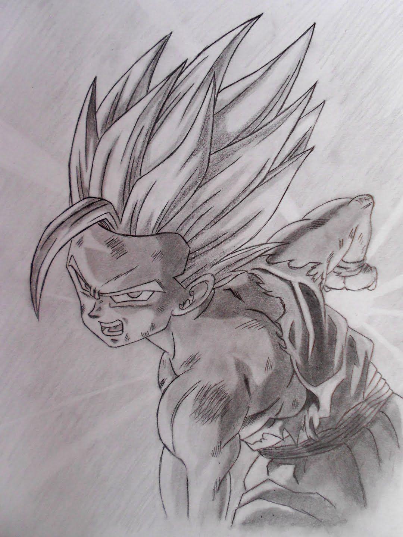 Dibujando A Gohan Ss2 Dbz Art Fan Art Humanoid Sketch