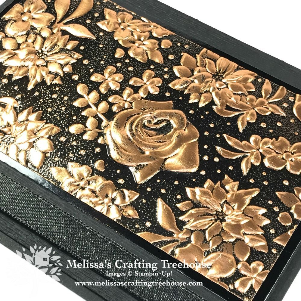 Embossing Folder Techniques Embossing Folder Techniques with the Country Floral embossing folder are shown here, including heat embossing on copper foil and stamping with the folder. #stampshandmade