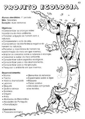 Objetivos Projeto Meio Ambiente I Pra Gente Miuda Meio
