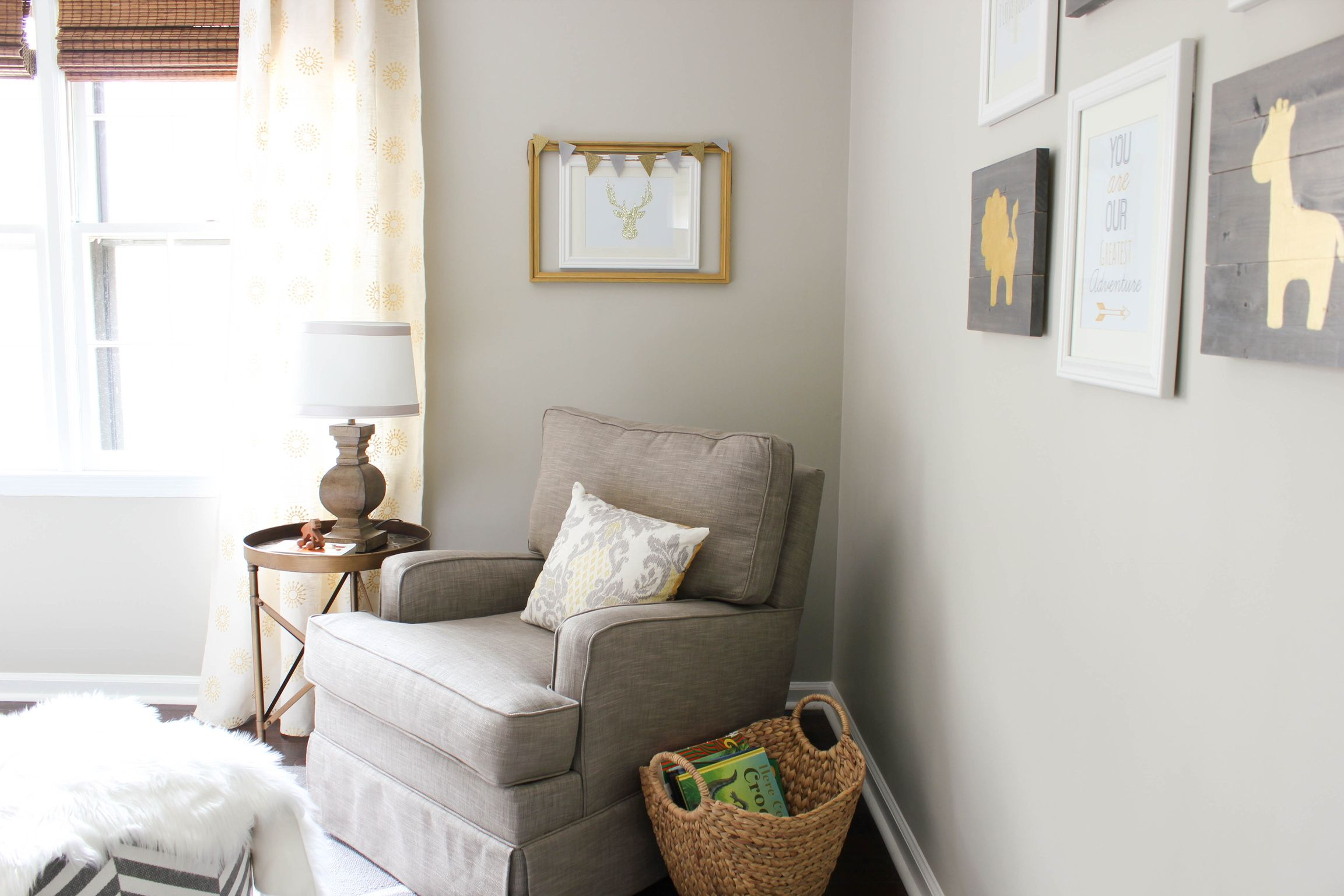 Gray & Gold Gender Neutral Nursery Reveal  Diy On