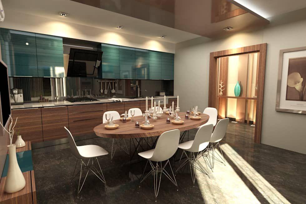 TELOS İÇ MİMARLIK VE TASARIM – GARDEN MODERN VILLALARI - MOZAMBIK: modern tarz Mutfak