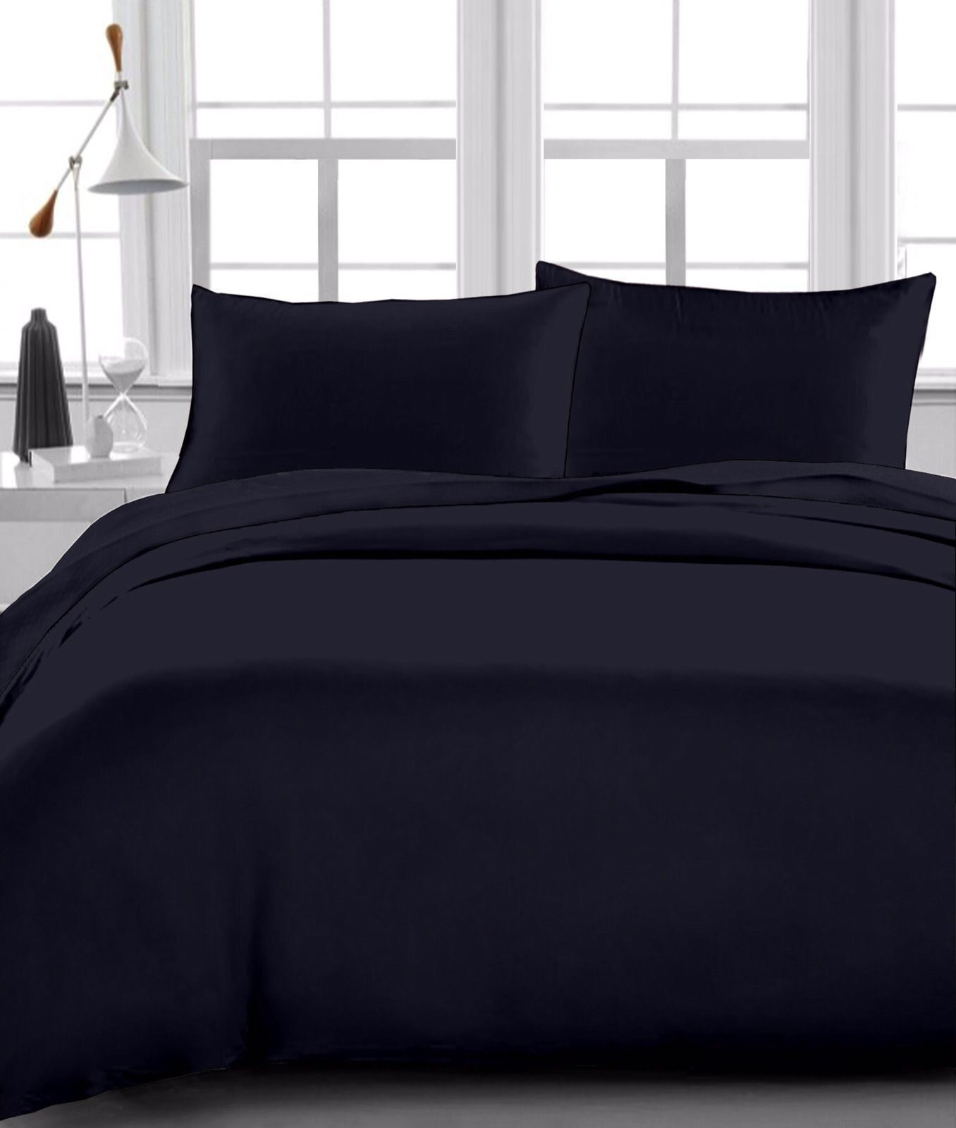About white 1000tc egyptian cotton complete bedding collection sheet - Black Solid 4 Pcs Sheet Set 1000 Tc 15 Inch Drop 100 Egyptian Cotton