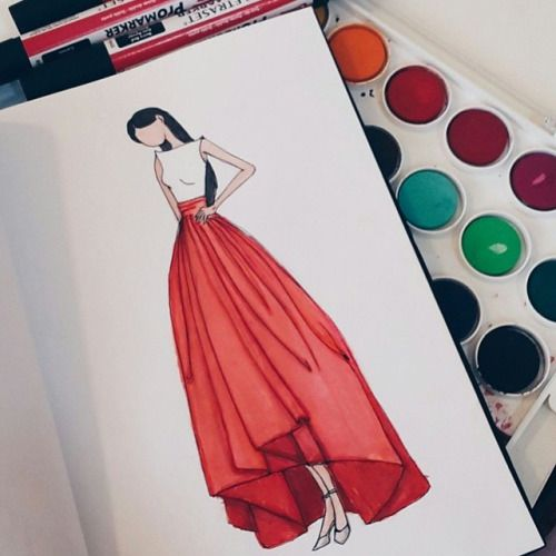 Bs000m Fashion Art Clothes Design Moon Coloring Pages