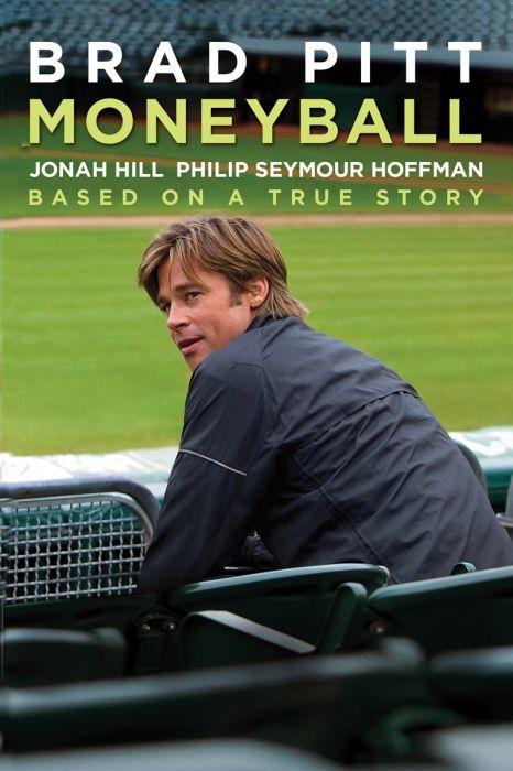 Moneyball Movie Poster - Brad Pitt, Jonah Hill, Philip Seymour Hoffman  #Moneyball, #MoviePoster, #BennettMiller, #Drama, #BradPitt, #JonahHill, #PhilipSeymourHoffman