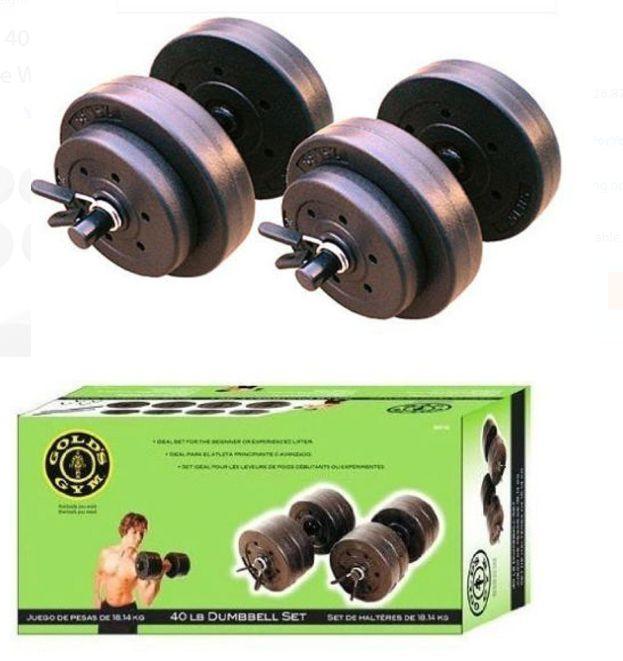 Weight Plates 179817 Cap Barbell Lift Gold S Gym Body 40 Lb Full Dumbbell Set  sc 1 st  Pinterest & Weight Plates 179817: Cap Barbell Lift Gold S Gym Body 40 Lb Full ...