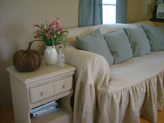 Shabby Chic Sofa Slipcover Throw By Mythymecreations On Etsy 450 00