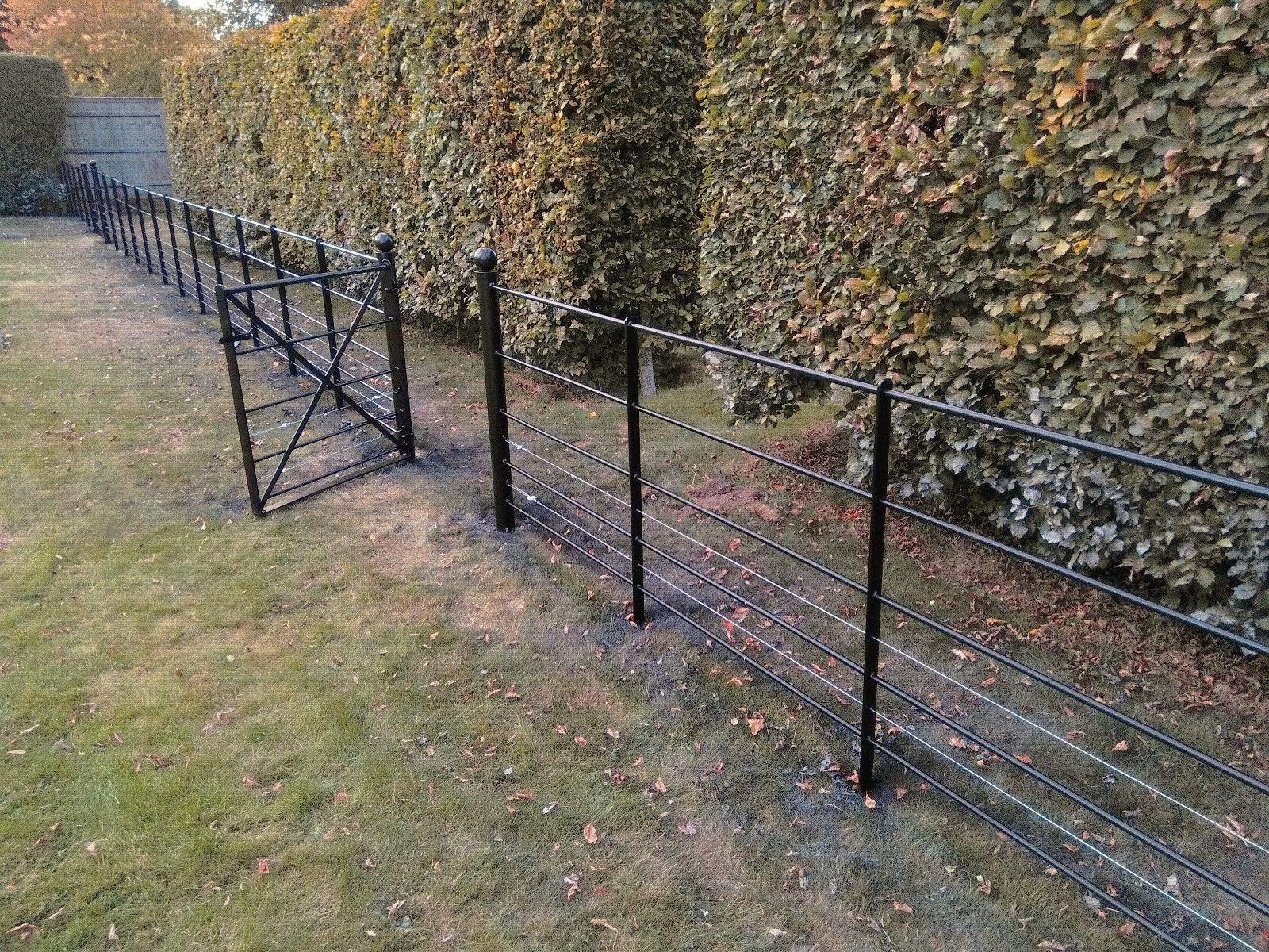 Estate Fencing Heavy Dty 1 2m Steel Metal Railings Wrought Iron