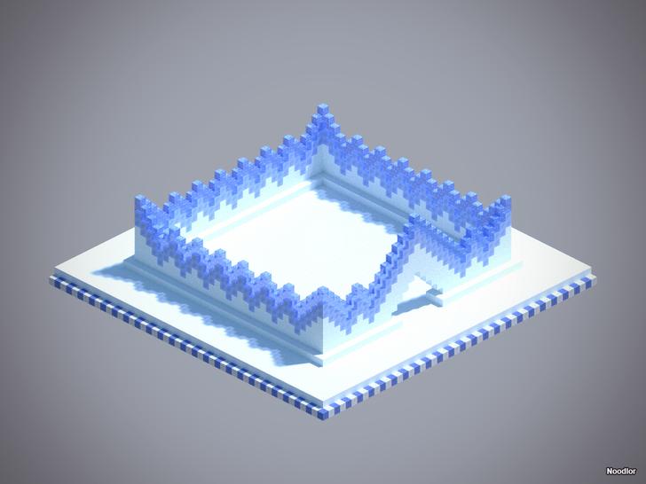Minecraft Ice wall design