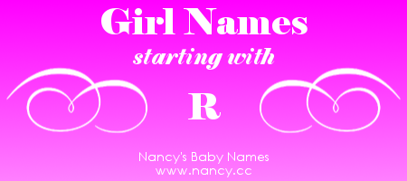 R Names For Baby Girls Pregnancy Pinterest Girl Names Baby