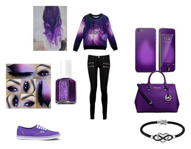 """para ir al cine"" by maiatomlinson on Polyvore featuring Michael Kors, Paige Denim, Vans, Essie y Jewel Exclusive"